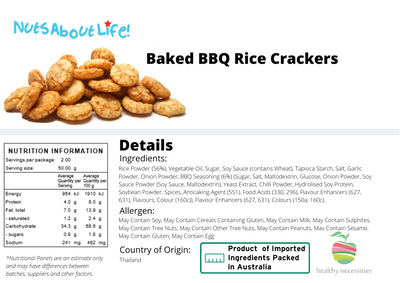 Baked BBQ Rice Crackers