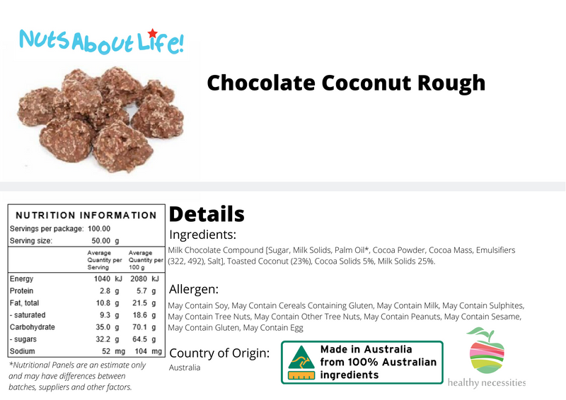 Chocolate Coated Coconut Rough