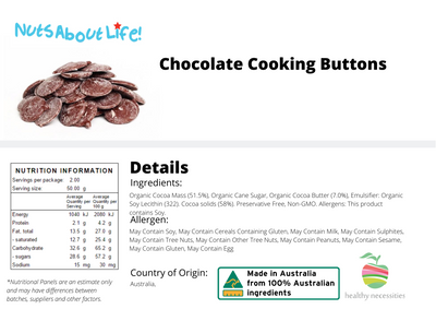 Chocolate Cooking Buttons