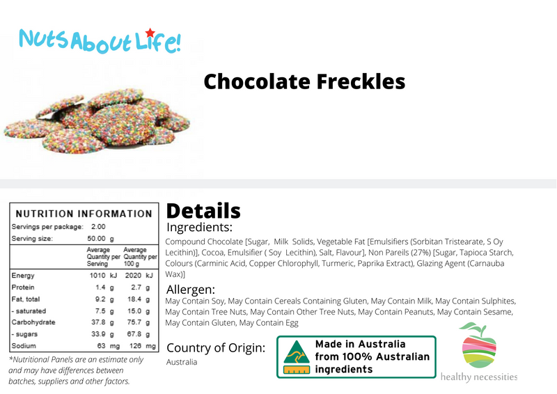 Milk Chocolate Freckles (Large)