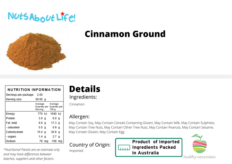 Ground Cinnamon Details