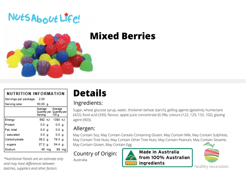 Coloured Mixed Berries