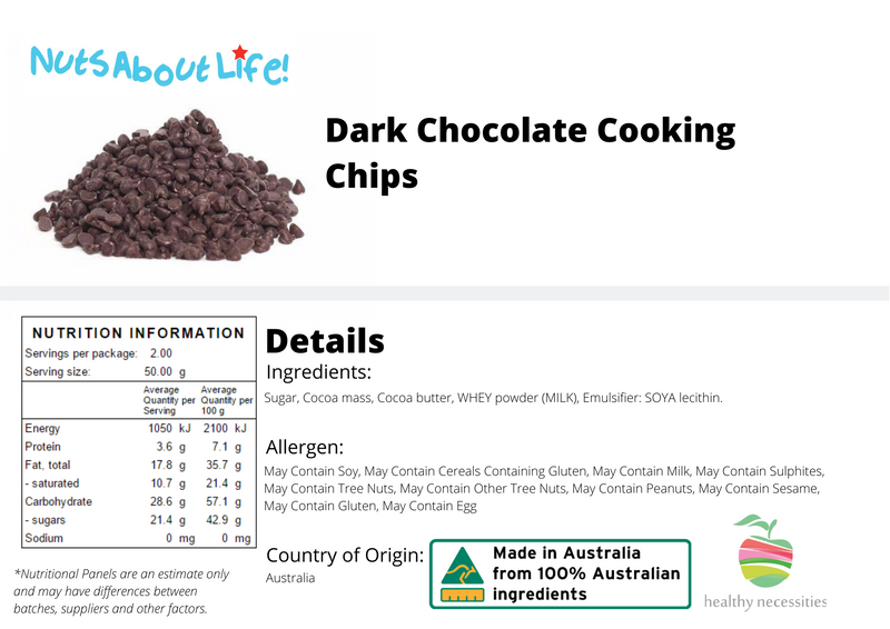 Dark Chocolate Cooking Chips