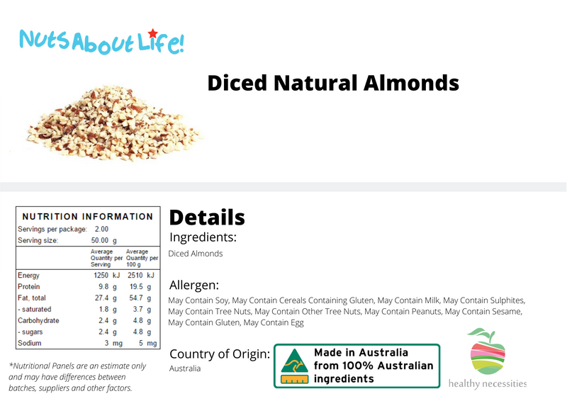 Diced Natural Almonds