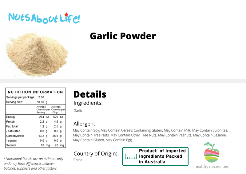 Garlic Powder Nutrition