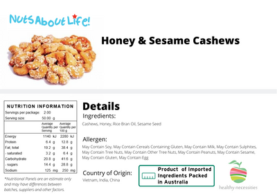 Honey and Sesame Seed Cashews