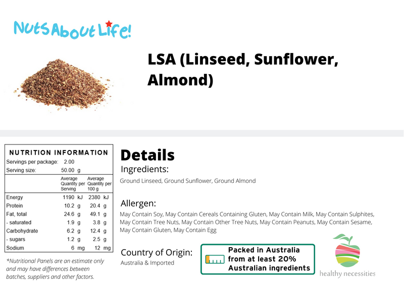 L.S.A (Linseed, Sunflower, Almond) LSA