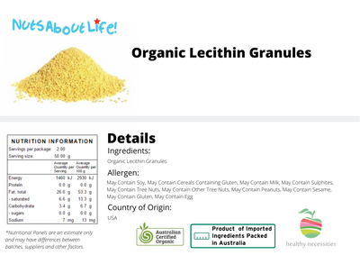 Organic Lecithin Granules Nutritional Information