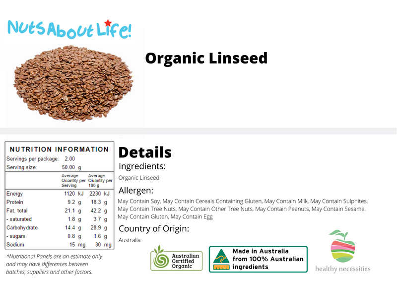 Organic Linseed Nutritional Information