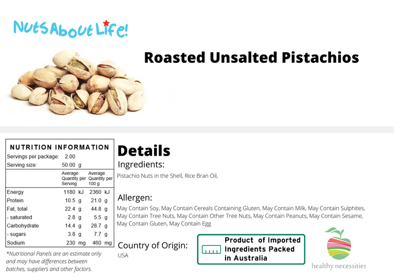 Roasted Pistachios (In Shell)
