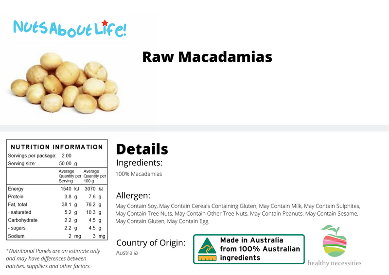 Raw Whole Macadamias