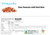 Raw Peanuts (Skin On)