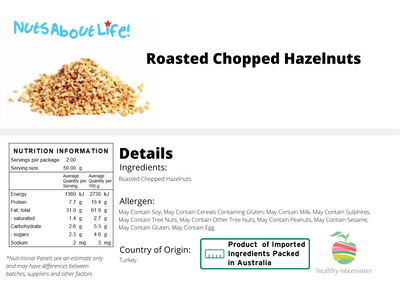 Roasted Chopped Hazelnuts