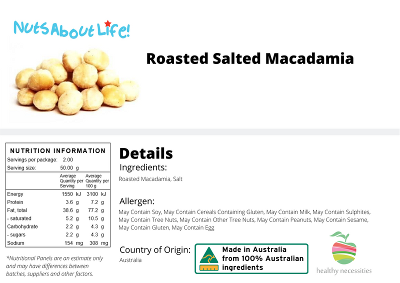 Roasted Salted Macadamia