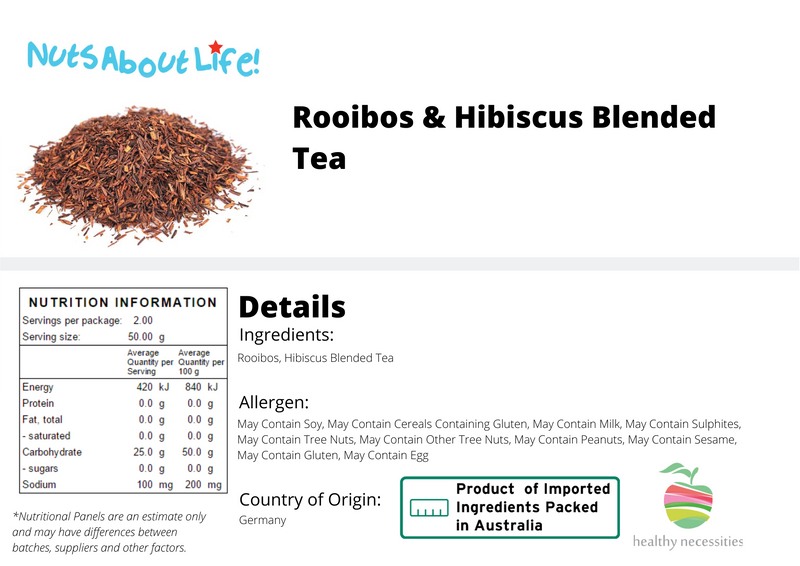 Rooibos and Hibiscus Blended Tea