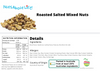 Roasted Mixed Nuts Salted Nutrition