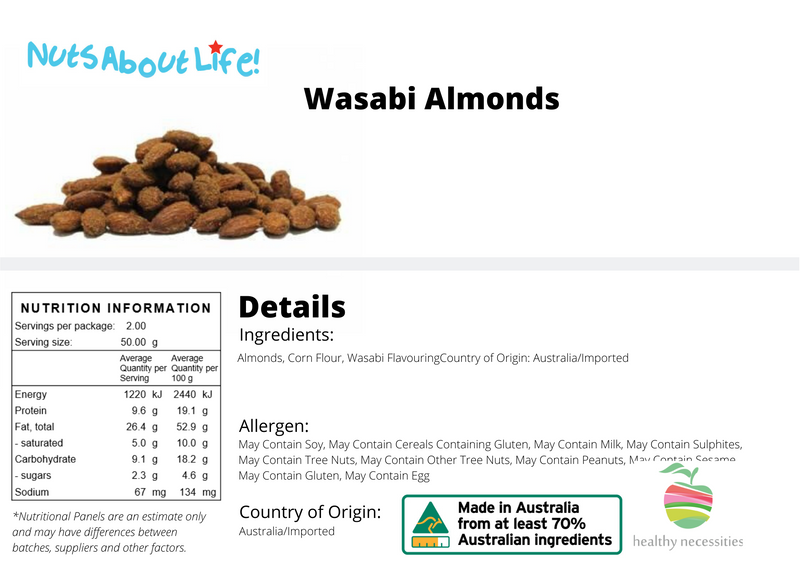 Wasabi Almonds Nutritional Information