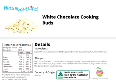 White Chocolate Cooking Buds
