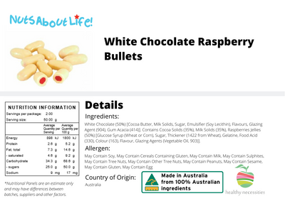 White Chocolate Raspberry Bullets