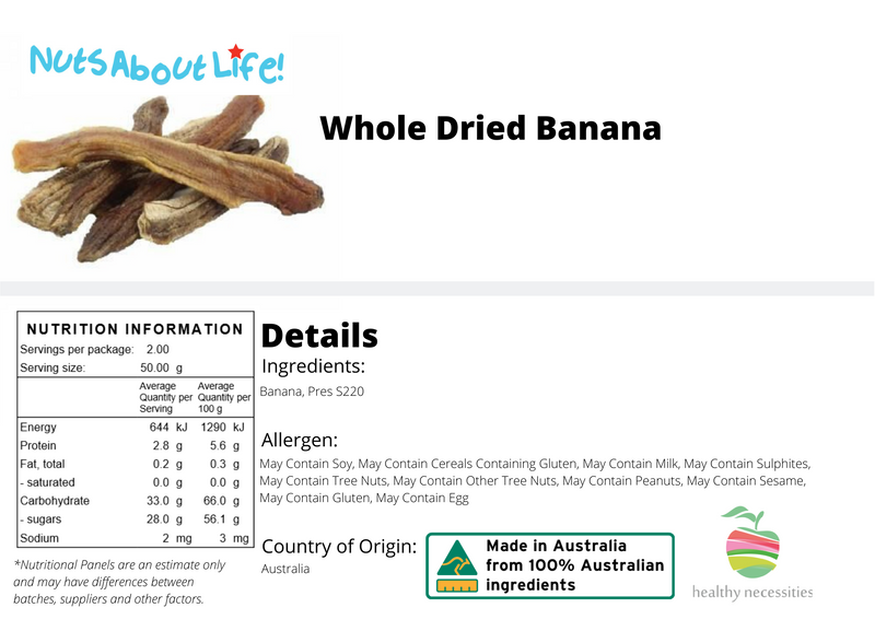Whole Dried Banana
