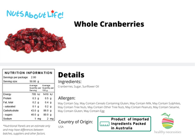 Whole Dried Cranberries - Ocean Spray