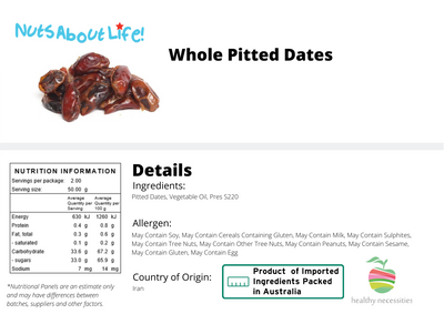 Whole Pitted Dates