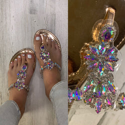 Rose Jeweled Sandals