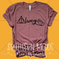 Always - Harry Potter Shirt - Choose Colors