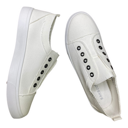 White Canvas Sneakers + FREE SHIPPING
