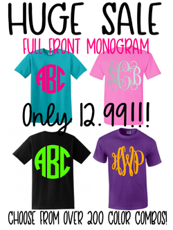 Full Front Monogram Shirt - Choose all colors
