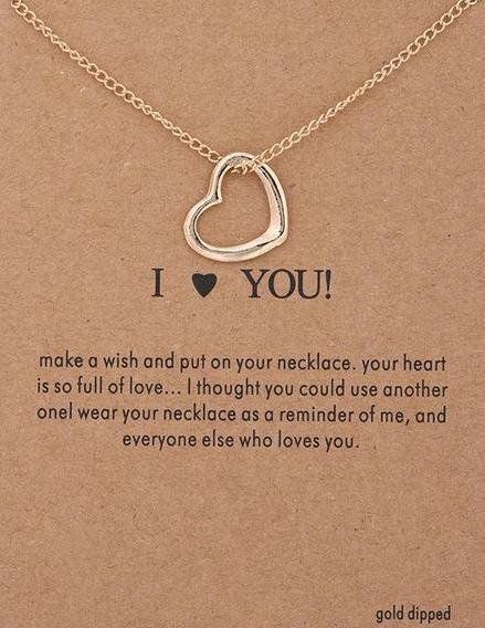 I Love You Make A Wish Necklace