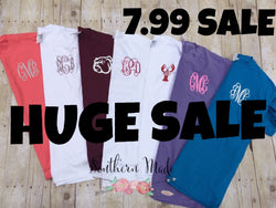 HUGE SALE - Pocket Area Monogram Shirt - I choose colors