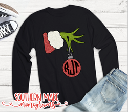 Christmas Tagged The Grinch Hand Shirt Strut