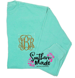 Pocket Monogram Shirt - Short or Long Sleeve