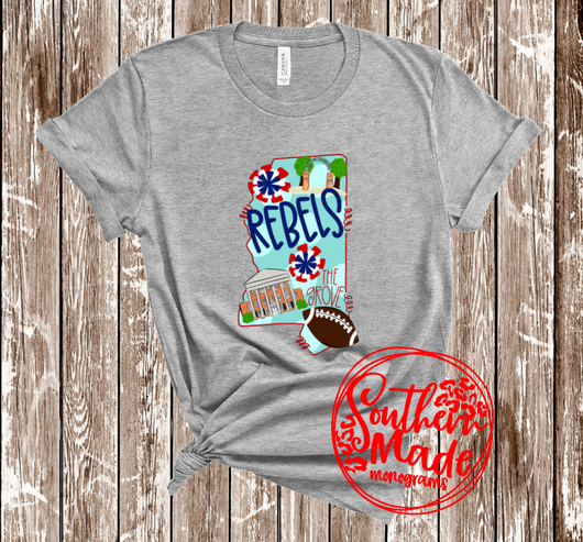 Ole Miss Spirit Shirt - Tee, Tank or Raglan - Infant-Adult