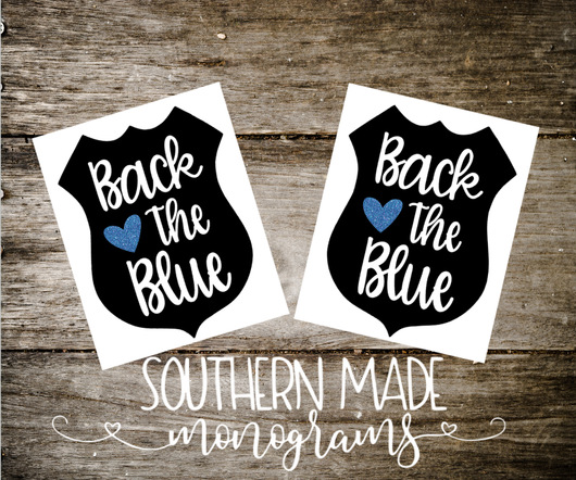 Back The Blue Decal - Choose Size