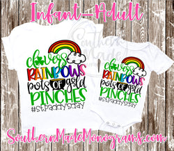 Clovers Rainbows Pots Of Gold Pinches #StPaddy'sDay