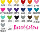 Name Stickers - Decal Sheet - Back to school decals