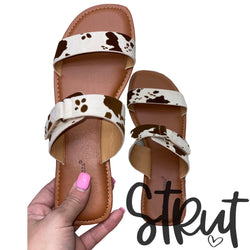 Steering Clear Cow Sandals