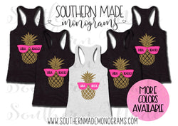 Hola Bride Pineapple - Hola Beaches Pineapple- Bachelorette Tanks