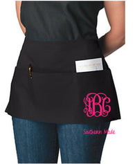 Monogrammed Waitress Apron - Choose Design & Font