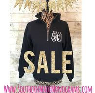 Quarter Zip Pullover Monogrammed Customize your own! Quarter Zip Sweatshirt Glitter Monogram Cheap monogram sweatshirt