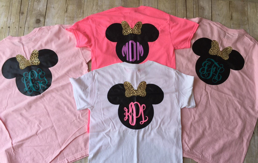 minnie mouse monogrammed t shirt minnie head t shirt customize your ow  u2013 southern made monograms llc