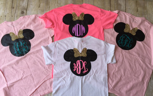 Personalized Disney Head with Minnie Mouse T-Shirt