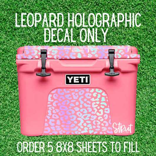 Leopard Holographic Decal Sheet