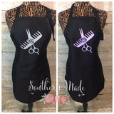 Cosomotologist Monogrammed Apron - Hair Dresser Apron - Choose Color Design