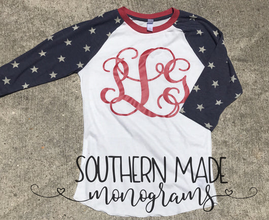 Stars & Stripes Baseball Tee