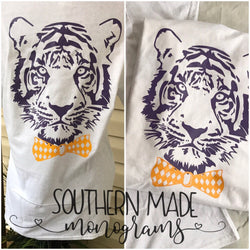 Tiger Head With Bow Tie - Short or Long Sleeve
