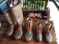 IN STOCK - Glitter Duck Boots - Adult, Youth or Toddler - Short or Tall