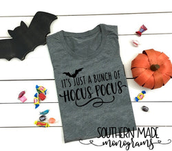 It's Just A Bunch Of Hocus Pocus - Short or Long Sleeve - Choose all colors - Bat